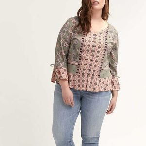 In Every Story | Flutter Sleeve Printed Blouse